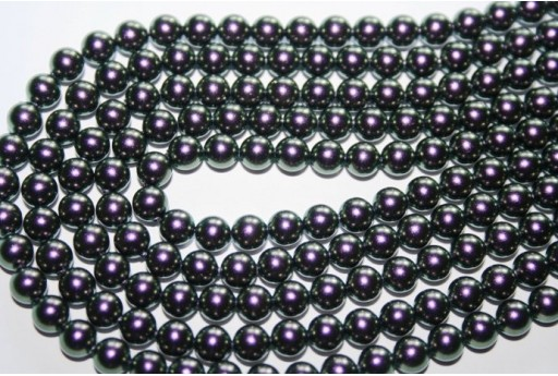 Swarovski Pearls 5810 Crystal Iridescent Purple 6mm - 12pcs