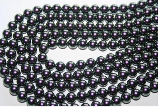 Swarovski Pearls Iridescent Purple 5810 8mm - 8pcs