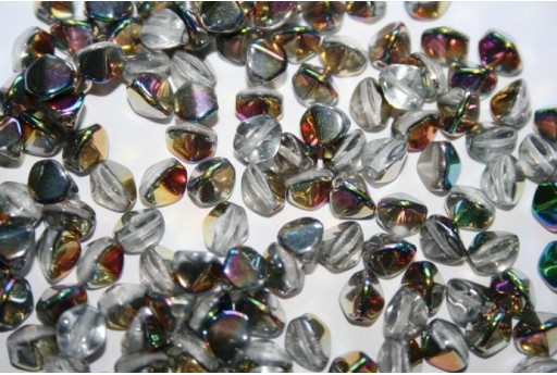 Perline Pinch Beads 7mm, 10gr., Crystal Vitrail
