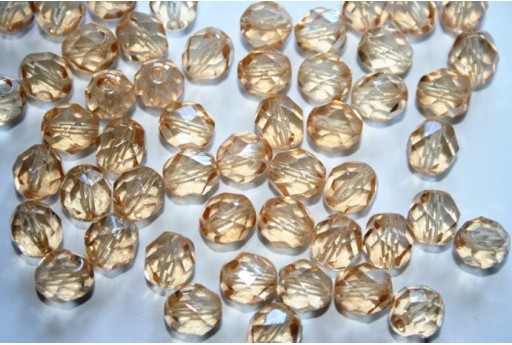 Fire Polished Beads Luster Transparent Champagne 8mm - 25pz