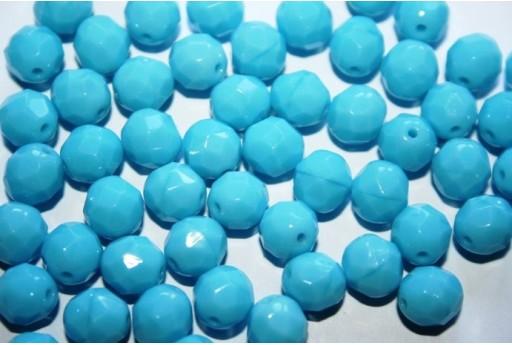 Perline Mezzi Cristalli Blue Turquoise 8mm - 25pz
