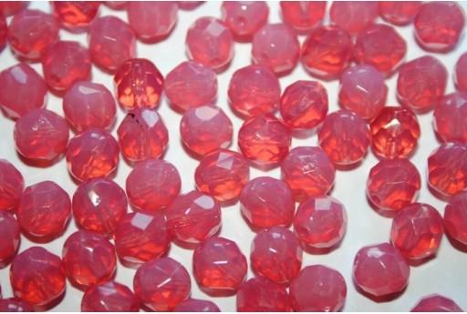 Perline Mezzi Cristalli Milky Pink 8mm - 25pz