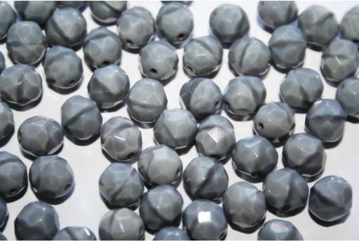 Perline Mezzi Cristalli Coral Grey 8mm - 25pz