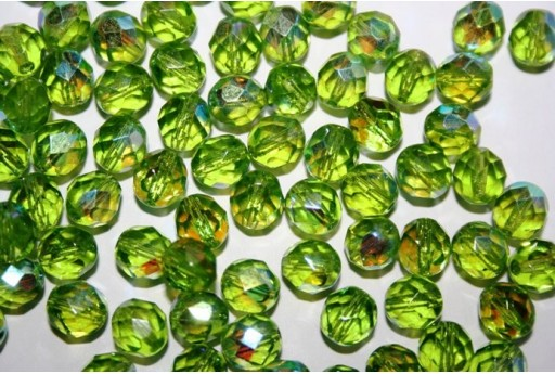 Perline Mezzi Cristalli Olivine AB 8mm - 25pz