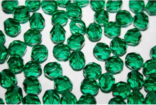 Perline Mezzi Cristalli Emerald 8mm - 25pz