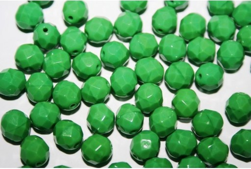 Perline Mezzi Cristalli Opaque Green 8mm - 25pz
