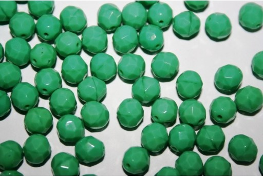 Fire Polished Beads Green Turquoise 8mm - 25pz
