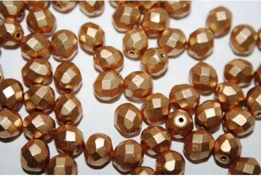 Fire Polished Beads Matte Metallic Flax 8mm - 25pz