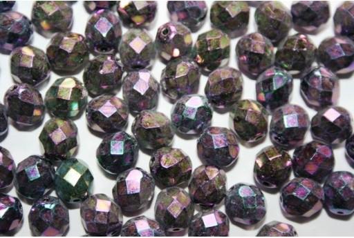 Perline Mezzi Cristalli Iris Purple 8mm - 25pz