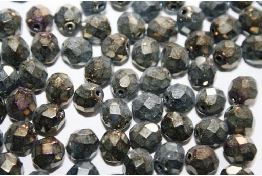 Perline Mezzi Cristalli Iris Brown 8mm - 25pz