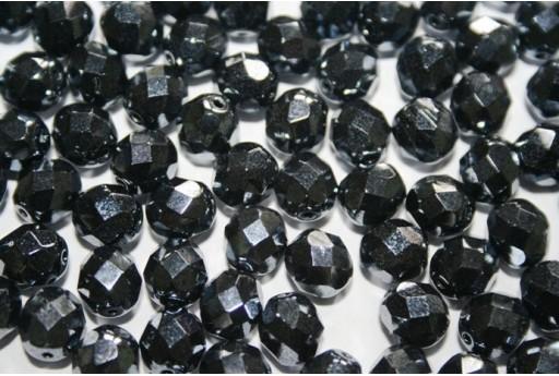 Perline Mezzi Cristalli Hematite 8mm - 25pz
