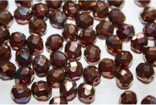 Perline Mezzi Cristalli Luster-Siam Ruby 8mm - 25pz