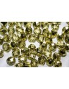 Fire Polished Beads Crystal Half Metal Light Green 8mm - 25pz