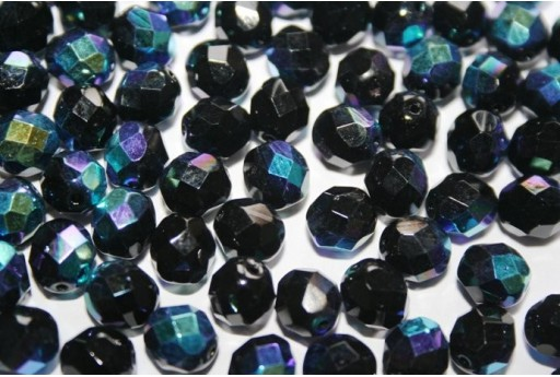 Fire Polished Beads Jet AB 8mm - 25pz