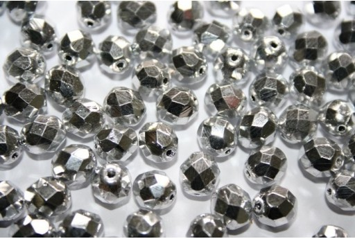 Perline Mezzi Cristalli Silver 8mm - 25pz