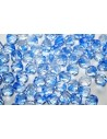 Perline Mezzi Cristalli Crystal/Sapphire 8mm - 25pz