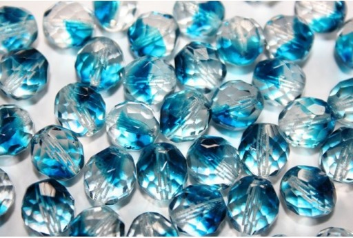 Perline Mezzi Cristalli Crystal/Capri Blue 10mm - 15pz