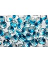 Perline Mezzi Cristalli Crystal/Capri Blue 10mm - 15pz