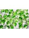 Perline Mezzi Cristalli Crystal/Prairie Green 10mm - 15pz