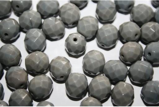 Perline Mezzi Cristalli Opaque Grey 10mm - 15pz
