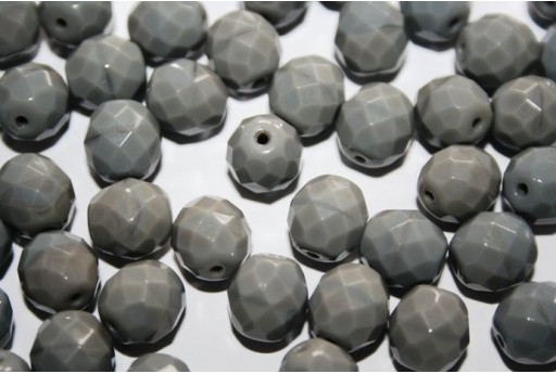 Perline Mezzi Cristalli Opaque Grey 10mm - 15pz