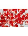 Perline Mezzi Cristalli Crystal/Siam Ruby 10mm - 15pz