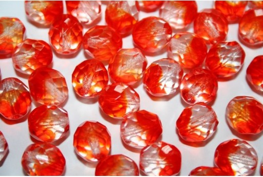 Fire Polished Beads Crystal/Hyacinth 10mm - 15pz