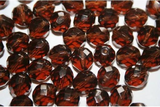 Fire Polished Beads Smoky-Topaz 10mm - 15pz