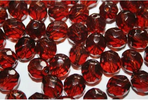 Fire Polished Beads Dark Topaz 10mm - 15pz