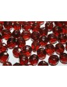 Perline Mezzi Cristalli Dark Topaz 10mm - 15pz