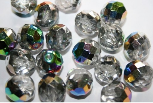 Perline Mezzi Cristalli Crystal/Vitrail 12mm