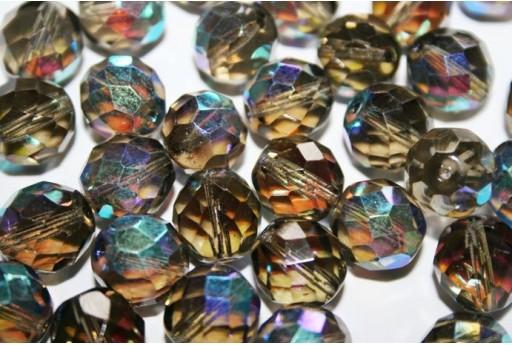 Perline Mezzi Cristalli Black Diamond AB