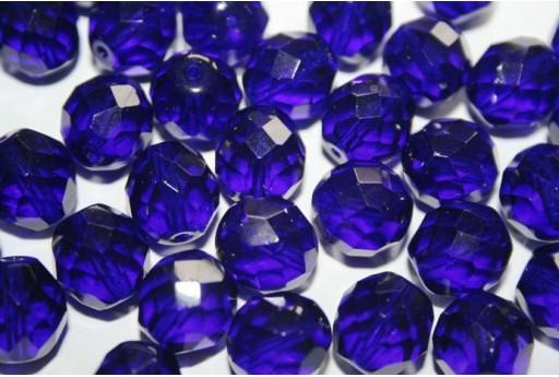 Perline Mezzi Cristalli Cobolt 12mm - 10pz