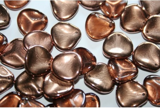 Rose Petals Beads Capri Gold 14x13mm - 10pz
