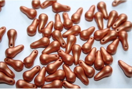 Bulb Beads 5x10mm, 25pz., Metallic Copper Col.29412