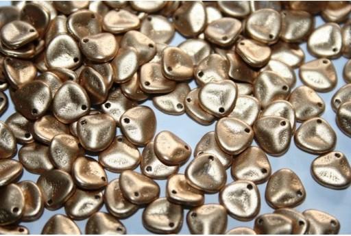 Rose Petals Beads Aztec Gold 8x7mm - 50pz