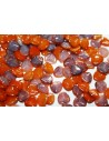 Rose Petals Beads Alabaster Funky Copper 8x7mm - 50pz
