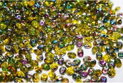 Perline Superduo Amber-Vitrail 5x2,5mm - 10g
