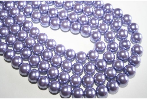 Glass Beads Lavender Sphere 8mm - Filo 52pz