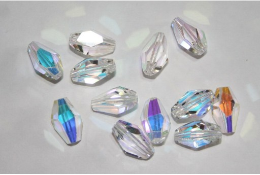 Polygon Bead Swarovski Crystal AB 12x8mm 5203 001AB
