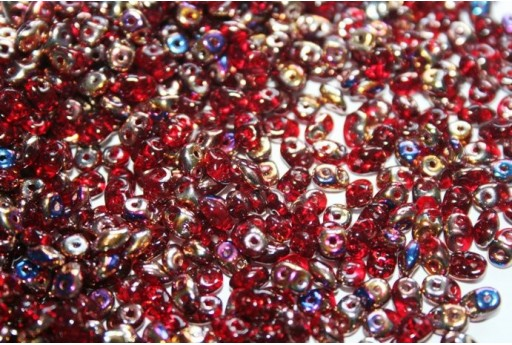 Perline Superduo Red Sliperit 5x2,5mm - 10g