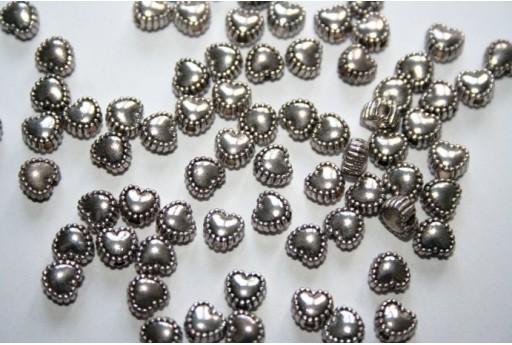 Cuori Argento Tibetano 5,5mm - 40pz