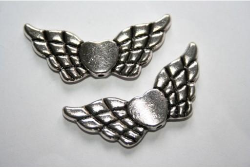 Tibetan Silver Wings Spacer Beads 41,5x18mm - 2pcs
