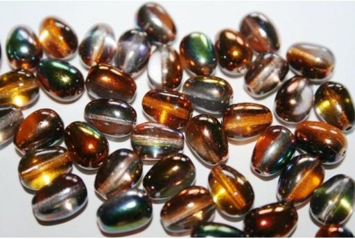 Perline Glass Drops 11x8mm, 10pz., Magic Copper Col.95300