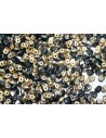 Superduo Beads Jet Amber Matted 5x2,5mm - 10gr