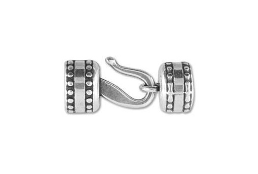 Climbing Silver Hook Clasp 13x8mm - 1pc