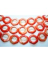 Shell Orange Hexagon Beads 16pcs 25mm SH33A