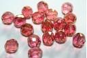Perline Mezzi Cristalli Luster-Pink 10mm - 15pz