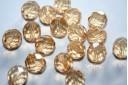 Perline Mezzi Cristalli Luster-Transparent Champagne 10mm - 15pz