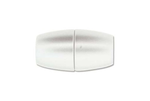 Opaque Silver Acrylic Magnetic Clasp 17x31mm - 1pc MIN167B